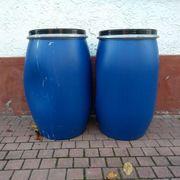 Blaue Fässer 120 Liter mit