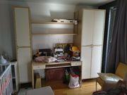 Schreibtisch Schrank Combi Birke