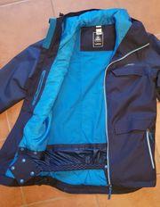 Blaue Ski Jacke Größe S