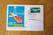 Sonder-Postkarte Eröffnung Hauptbahnhof Ludwigshafen vom