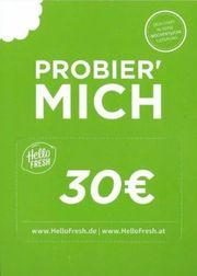 30 Euro Hello Fresh Gutschein