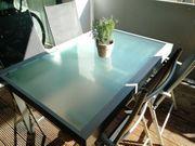 Gartenmöbel-Set 1 Ausziehtisch 4 Stühle