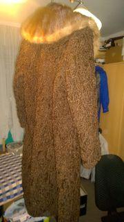 Persianer Mantel braun mit echtem
