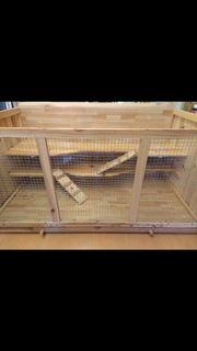 Artgerechter Holz-Käfig Gehege Hamster Rennmaus