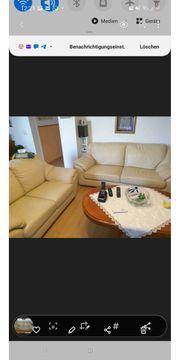 Echtes Leder Couchgarnitur Sofa Top