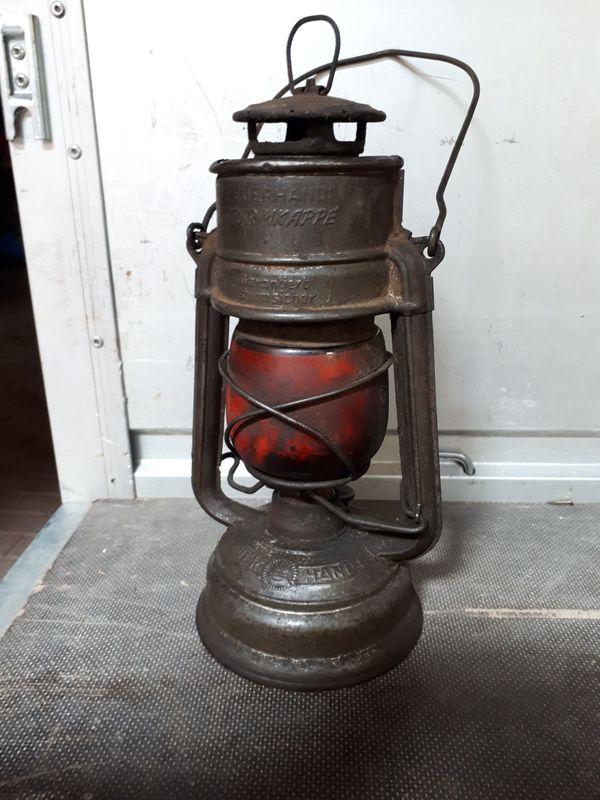 Alte Petroleumlampe DEKO Laterne Feuerhand original Sturmkappe