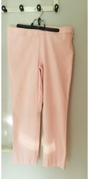 rosa wadenlange Stoffhose made in