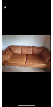 3er-Sofa Naturfarbe braun