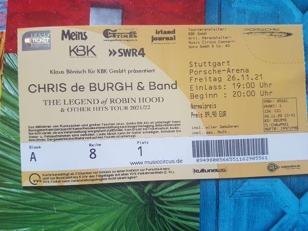 Chris de Burgh Band Block