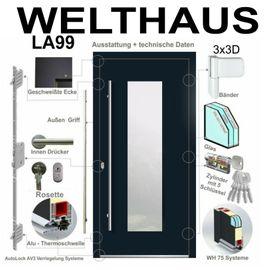 Türen, Zargen, Tore, Alarmanlagen - WeltHaus Haustür WH75 Aluminium mit