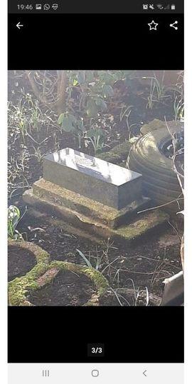 Grabstein aus Granitstein: Kleinanzeigen aus Burkhardtsdorf - Rubrik Sonstiges für den Garten, Balkon, Terrasse