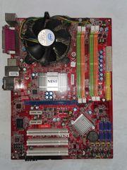 Mainboards CPUs und Lüfter an