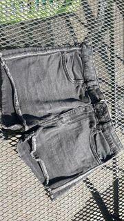 Kurze Hose Jeanshose grau H