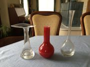 3 Glas-Vasen