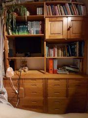 Regalsystem Kiefer Schreibtisch