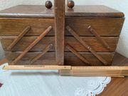 Nähkorb braun Holz