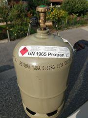 Leere Propangasflasche 5 kg neuwertig
