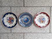 9 Zierteller verschiedene Modelle Porzellan