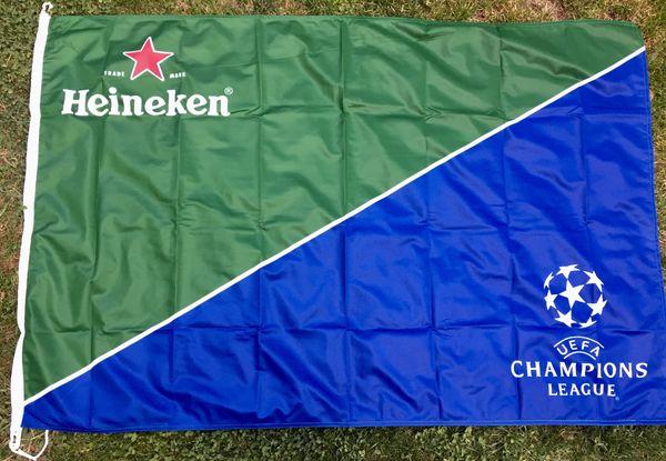 Große Heineken Champions League Fahne