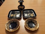 Kobaltblau Teller und Vase