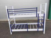 Etagenbett Bett Stockbett Metall Weiß