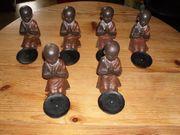 Sechs kleine Buddha Figuren