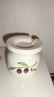 Konfitüren-Serviertopf Marmeladentopf mit Deckel