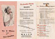 MASPO Massagegerät aus den 50-60