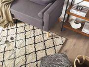 Teppich beige schwarz 160 x