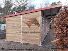 Bild 4 - Aussenboxen Pferdestall Pferdeboxen Weidehütte Offenstall - Walcz