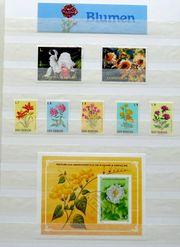 Briefmarken MOTIVSAMMLUNG in 9 Alben