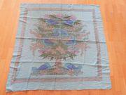 Schal Tuch türkis Vogel-Motiv quadratisch
