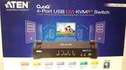 4-Port USB DVI KVMP Switch