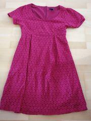 tolles raffiniertes dunkelpinkes Kleid Größe