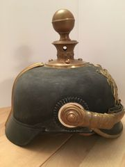 Alte württembergische Artillerie Pickelhaube Helm