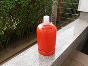 Probangasherd mit Gasflasche und Druckregler