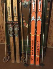 2 Paar Ski 1960er Jahre