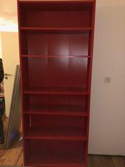 Ikea Billy Regal in rot