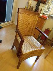 Stuhl einzeln - geflochten