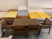 Gartentisch 4 Stühle - 150 80cm -