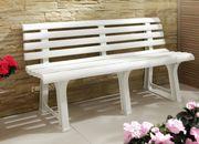 Gartenbank weiß Sitzbank Gartenmöbel Sitz