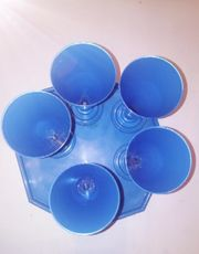 5 Eisbecher Cocktail Dessert blau
