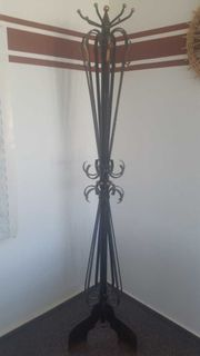 Garderobenständer Schmiedekunst aus massiven Stahl -