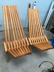 Stylische Liegestühle für Garten Terrasse