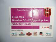 Eintrittskarte DSC-Erzgeb Aue