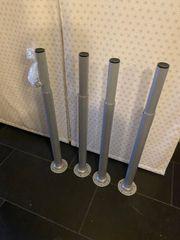 4 höhenverstellbare Tischbeine