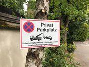 Privater Parkplatz Stellplatz im beleuchteten