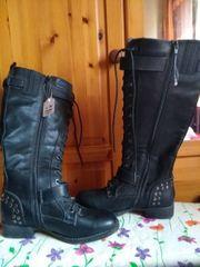 Stiefel schwarz Gothic Gr 38