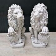 Steinfigur 2x Löwen XL Links