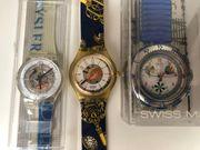 3 x SWATCH Uhren --